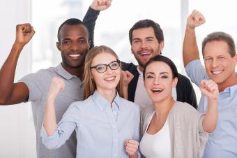 Image of motivated coworkers at a business