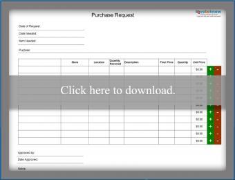 Printable purchase log