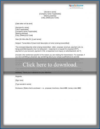 3-paragraph transmittal letter