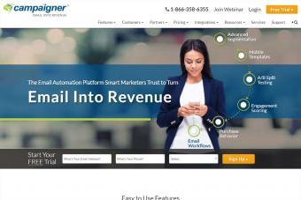 Screenshot of Campaigner