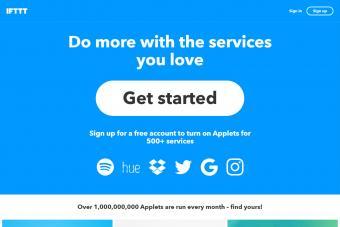 Screenshot of IFTTT