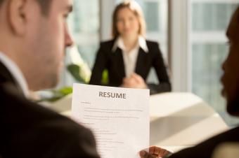 Resume at job interview