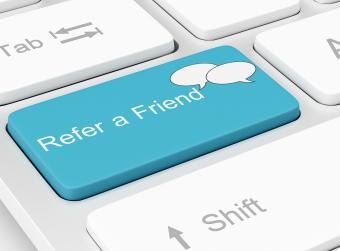 Refer a friend button