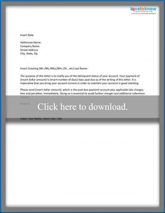 Sample Collections Letter Template
