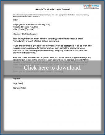general termination letter printable pdf