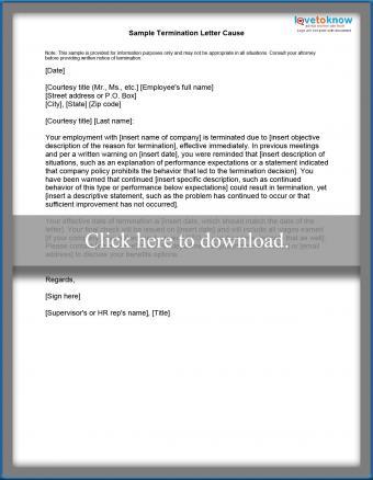 cause-based termination letter printable pdf