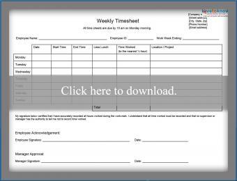weekly employee timesheet printable pdf