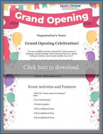 Business Grand Opening Flyer Template