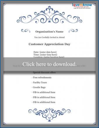 Business Customer Appreciation Flyer Template
