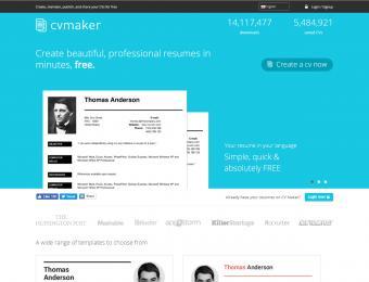 Screenshot of CV Maker Free Version