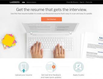 Screenshot of Ladders Resume Builder