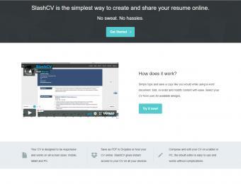 Screenshot of Slash CV
