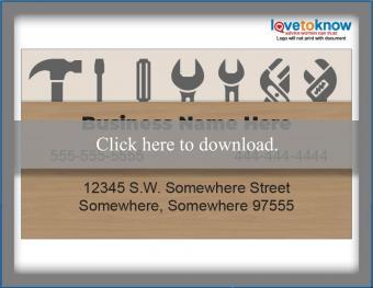 home repair business card