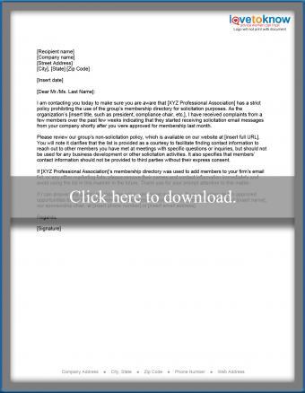 Non-compliance letter printable pdf