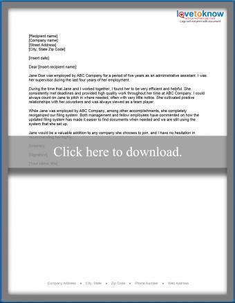 Admin employee recomendation example