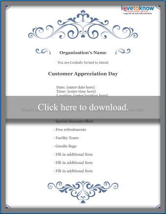 Business Customer Appreciation