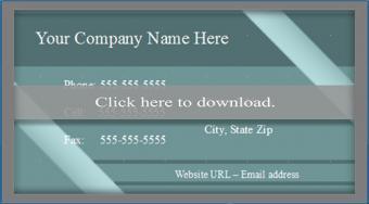OpenOffice business card template 2
