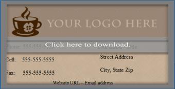 OpenOffice business card template 3