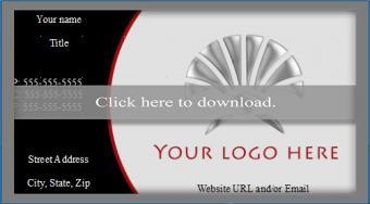 OpenOffice business card template 4