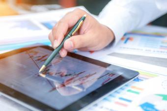 Businessman show analyzing report