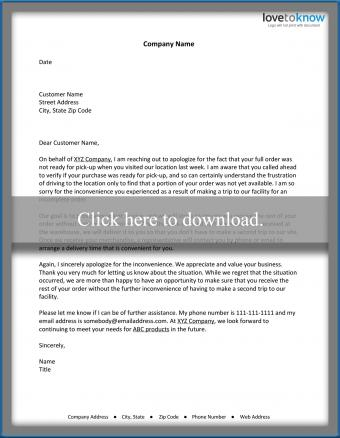 Business Miscommunication Apology Letter