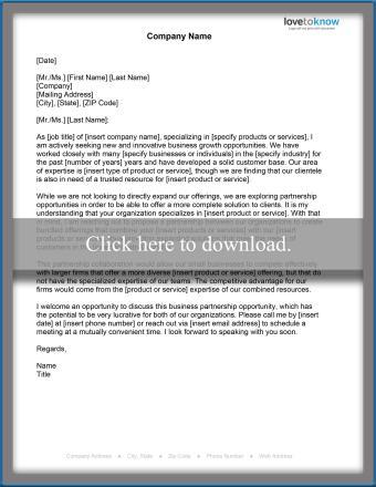 Business Proposal Partnership Letter