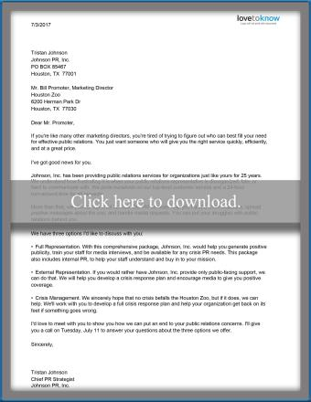 Service proposal letter