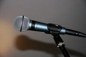 Image of a broadcast microphone