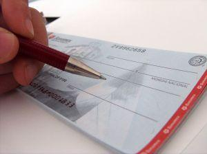 writing a business wallet check