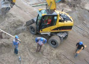 Bonded construction contractors at work