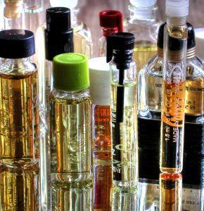 Image of many bottles of perfume