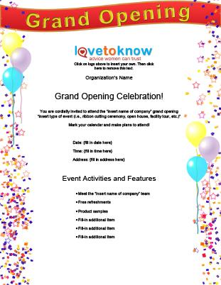 grand opening template
