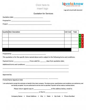 Free Quote Forms For Contractors  Lovetoknow