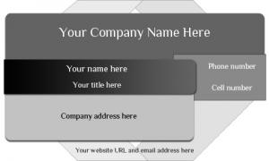 Black and Gray Card Template