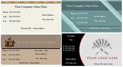 Open office business card template reheart Image collections