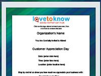customer appreciation flyer