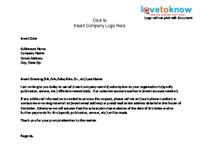 Subscription cancellation letter template