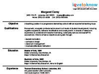 new teacher resume template 1