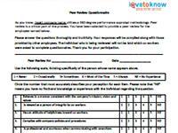 peer review questionnaire