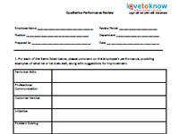 qualitative performance review