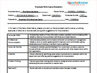 employee review forms free printable
