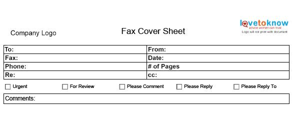 Fax Cover Sheet  Fax Sheet Template