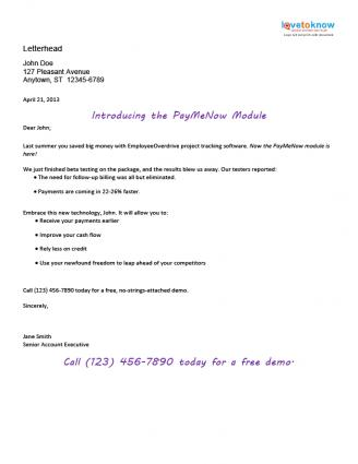 Sample Marketing Letters To Potential Clients Ten