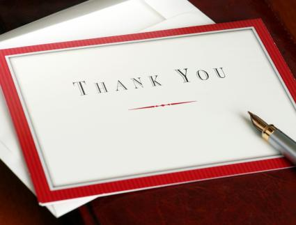 Employee farewell thank you note lovetoknow thank you note negle Choice Image