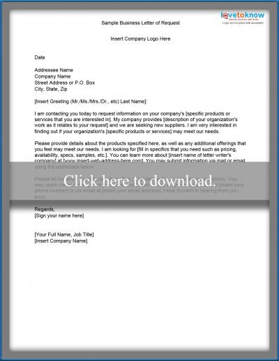 How To Write A Business Letter  Lovetoknow
