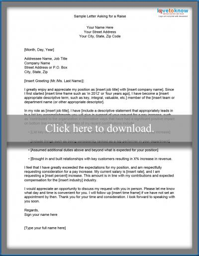 Sample request for a letter of recommendation lovetoknow letter asking for a raise spiritdancerdesigns Image collections