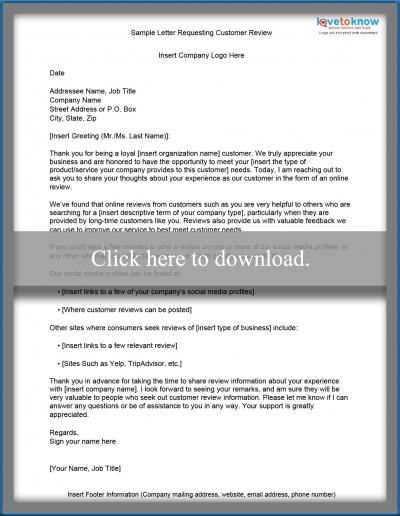 Free sample letters of request sample document requesting reviews spiritdancerdesigns