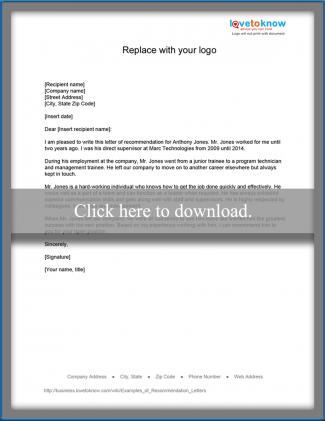 Promoted Employee · Promoted Employee Recommendation  Business Reference Letter Template