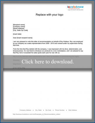 Examples of recommendation letters lovetoknow sales representative recommendation spiritdancerdesigns Images