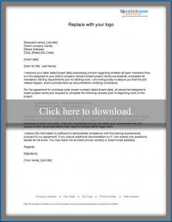 Response to non-compliance notification